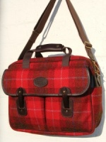 Edinburgh Red Tartan Pattern Harris Tweed