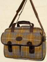 Edinburgh Yellow & Blue Tartan Harris Tweed