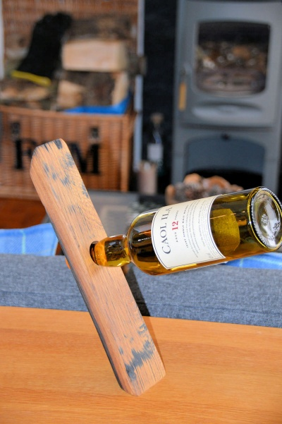 Oak Whisky Barrel Stave Bottle Balance