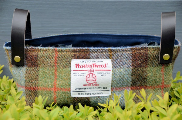 Harris Tweed Basket McLeod Tartan