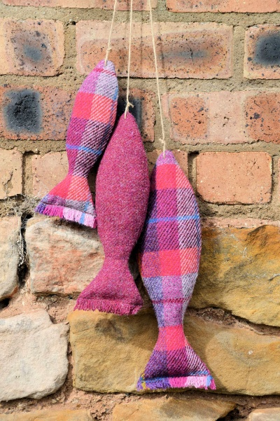 Harris Tweed Catch of the Day Claret