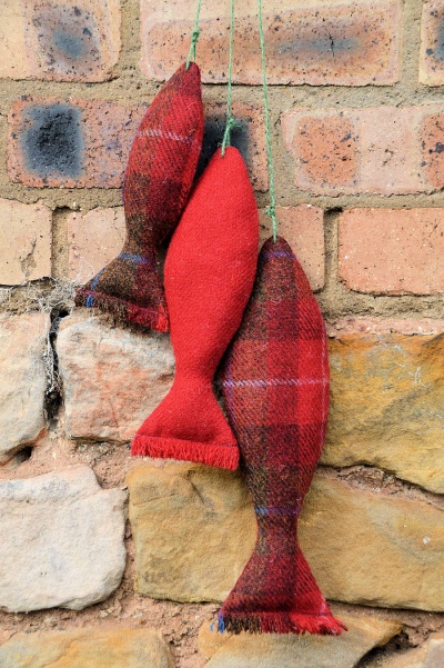 Harris Tweed Catch of the Day Red