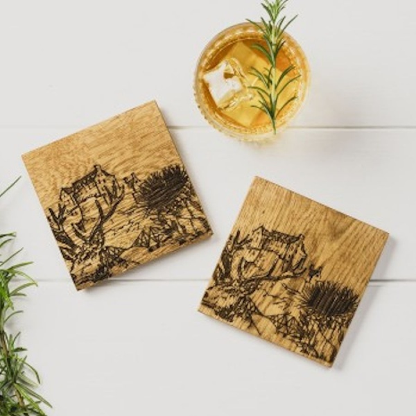 Scottish Oak Set of 2 Coasters - Iconic Scotland