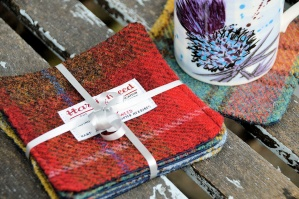 Harris Tweed Coasters Set of Four