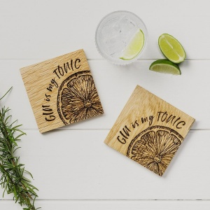 Oak Gin Coasters