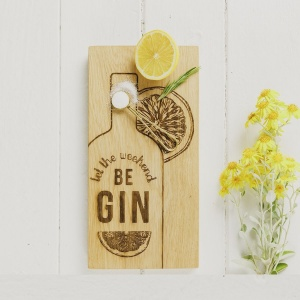Oak Gin Serving Board